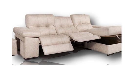 Sofá Diana chaise longue 2 relax y arcón en diván