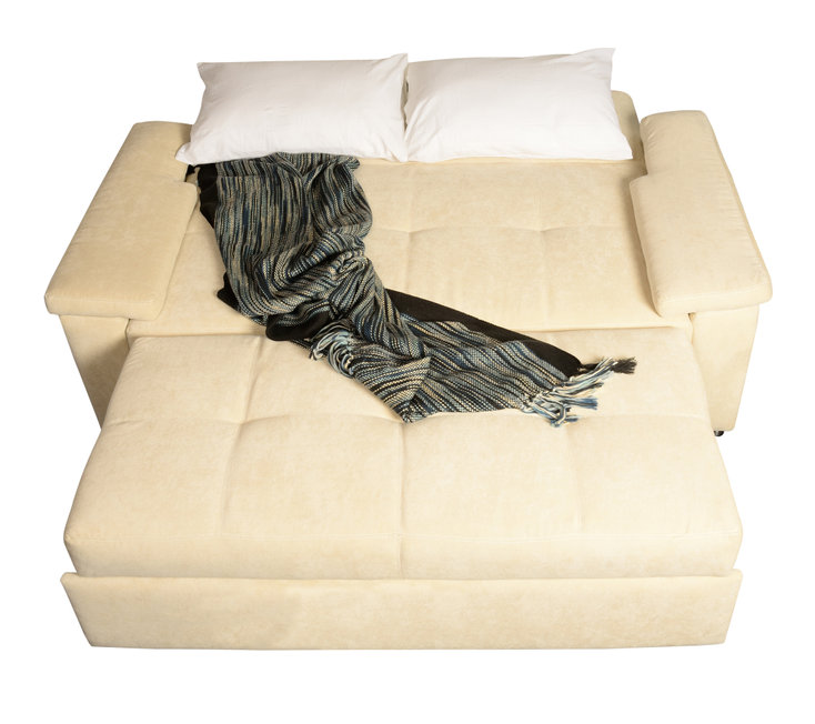 sofá cama desplegado