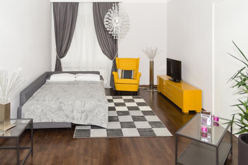 Sofá cama en salón